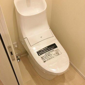 ツルーンとしたトイレ。