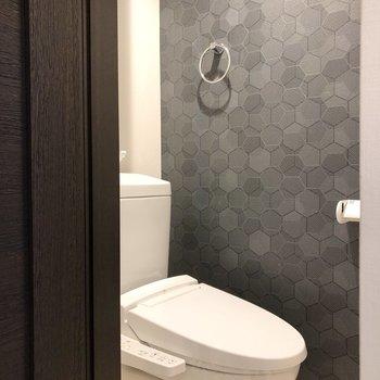 清潔感を感じるトイレ。