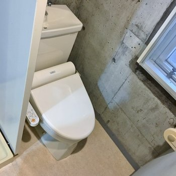 ウォシュレット付きのトイレ!