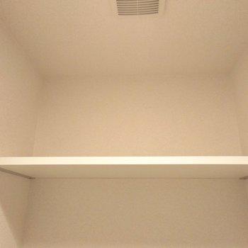 トイレの上には嬉しいもの置き棚