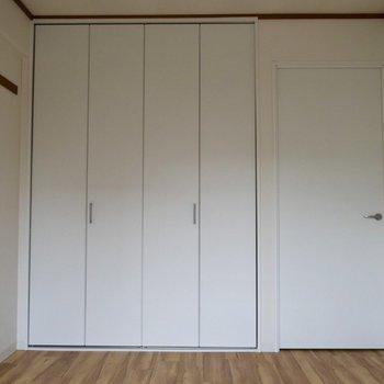 白で統一されたクローゼットとドア。(洋室6帖)