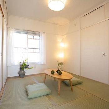 北側の和室はこんな感じ。(写真は同間取りのモデルルームです)