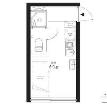 2階の南向きのお部屋で住み心地も良さそう。