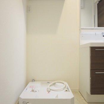 洗濯機置き場は隣に