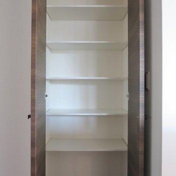 【2階洋室】右の扉を開けると、小物などもしまえそうなスペースが