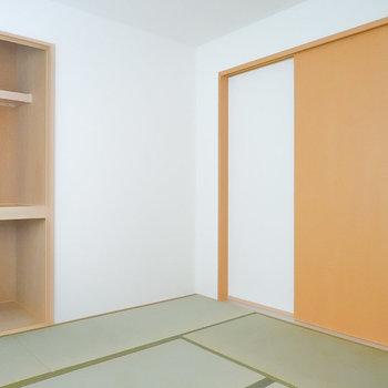 7帖あり、収納もあるので和室で寝るのもアリですね。