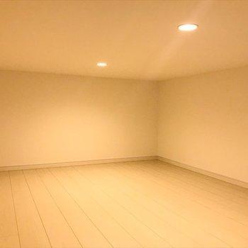 ロフトは5.2帖のゆったりとした寝室に◎
