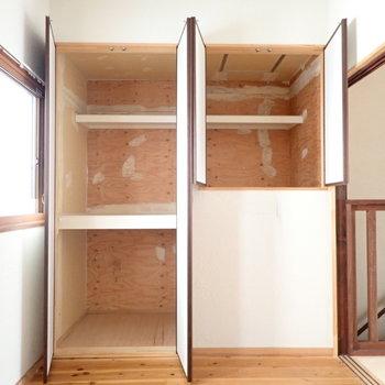 同じく2階。普段使わないものはここへ入れておきましょう。