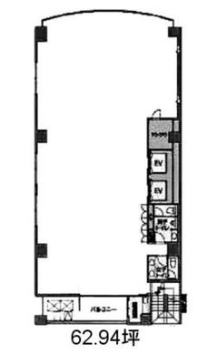 半蔵門 62坪 オフィス の間取り