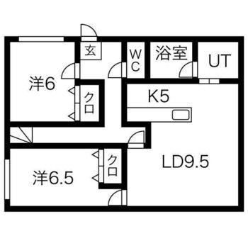 1階ガレージの2階住居スペース