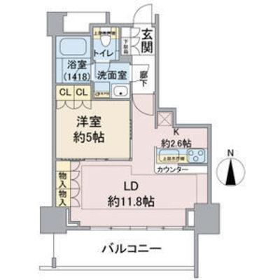 プラウドタワー覚王山 704号室 の間取り