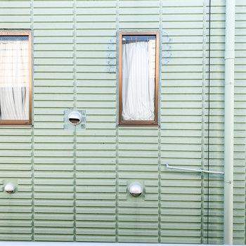 眺望はグリーンカラーのお隣さん。
