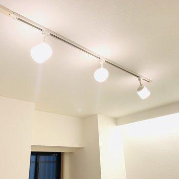 スポットライトが室内をくまなく照らしてくれます。