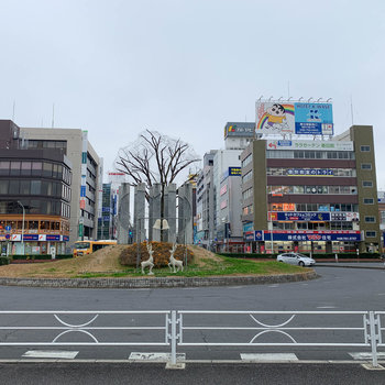 駅周辺も、お店がたくさんありました。