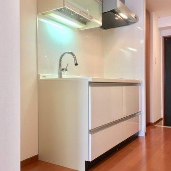 じゃんっ!手前に冷蔵庫がおけますネ※写真は3階の反転間取り別部屋のものです