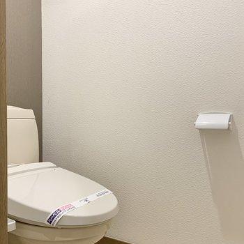 トイレ上には棚も付いています