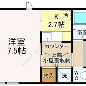 玄関付近にサニタリーや収納がまとまっている分、お部屋は広く使えますね。