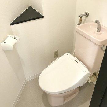 トイレはウォシュレットタイプで。※写真は前回募集時のもの