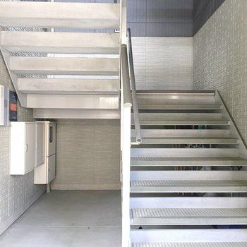 階段。エレベーターはないです、、