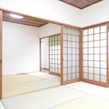 【和室6.0帖(奥)】こちらのほうが明るいので、寝室に!