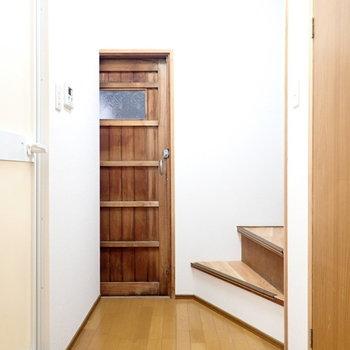 右の扉を開けると、何やら扉が…