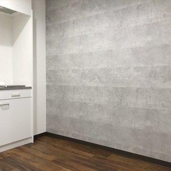 キッチンも壁で隠れているので、生活感でません。