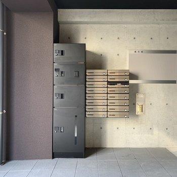 宅配ボックスも設置されていますよ。