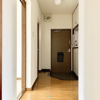 廊下の右にサニタリー。
