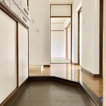 少しでも廊下スペースがあるのがグッド。