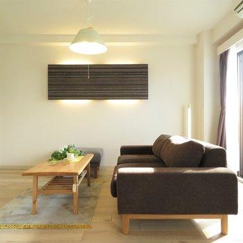 ナチュラルな家具がとてもよく似合う◎ ※写真はモデルルームです