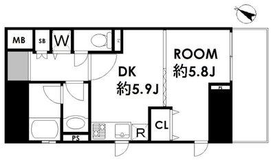 デュオ・スカーラ西新宿II の間取り