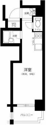 ラグジュアリーアパートメント東中野Ⅱ の間取り
