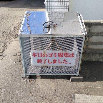 ゴミボックスは敷地内にしっかりありますよ