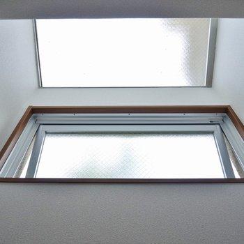 エアコン下の窓。これがあるのと無いのとでは、だいぶ明るさが違いますね※写真は同タイプの別室