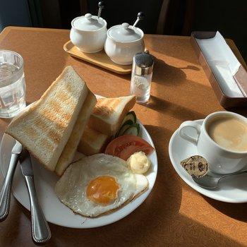 武蔵新城の喫茶店「すなどけい」の500円のモーニング美味しかったです。
