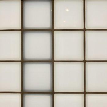 ブロックガラスはしっかりと外からの視線をシャットアウトしてくれそうです。※写真は2階の同間取り別部屋のものです
