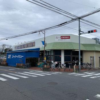 近隣にはスーパー。
