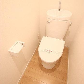 トイレも広めの個室です。