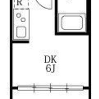 寝食分けて生活できる、1DKのお部屋です。