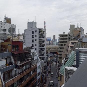 東京タワーもほんのり見えます。