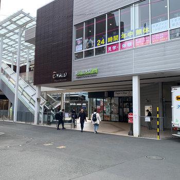 最寄りの東久留米駅北口です。