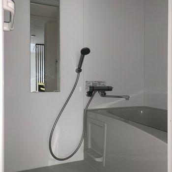お風呂もクールな印象です。※フラッシュを使用しています。