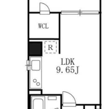 バストイレ別、1LDKのお部屋です。