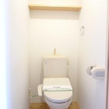 おトイレは嬉しいウォシュレット付き。