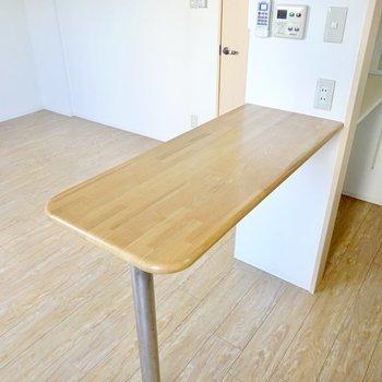 カウンターは調理スペースだけでなく食事用のテーブルとしても。様々な使い方ができます。