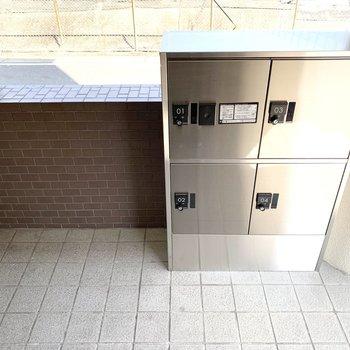 宅配ボックスも設置されていました。