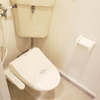 ちょっとレトロなトイレ。ウォシュレット付いてます