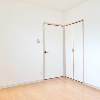 収納はドア側にひとつ。