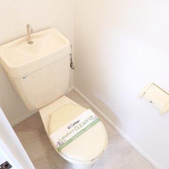 正面にはシンプルなおトイレ。