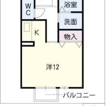 一人暮らし向きのお部屋です。(※反転間取りの間取り図です)